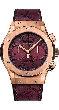 Hublot Classic Fusion Chronograph Berluti Scritto Bordeaux 521.OX.O50V.VR.BER18