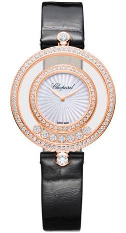 Chopard Happy Diamonds 32 mm Quartz Rose Gold 209426-5201